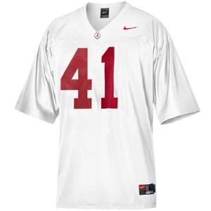 Youth(Kids) Alabama Crimson Tide #41 Courtney Upshaw White Nike Jersey