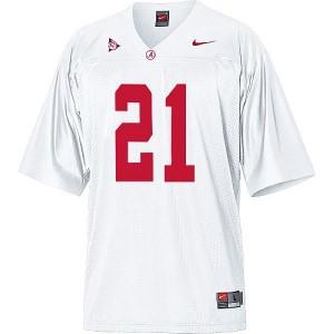 Men Alabama Crimson Tide #21 Dre Kirkpatrick White Nike Stitch Jersey