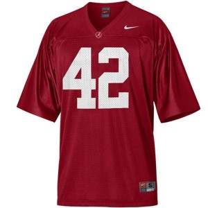 Nike Alabama Crimson Tide #42 Eddie Lacy Men Stitch Jersey - Red
