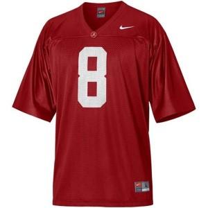 Nike Alabama Crimson Tide #8 Julio Jones Men Stitch Jersey - Red