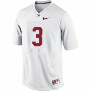 Youth(Kids) Alabama Crimson Tide #3 Trent Richardson White Nike Limited Jersey