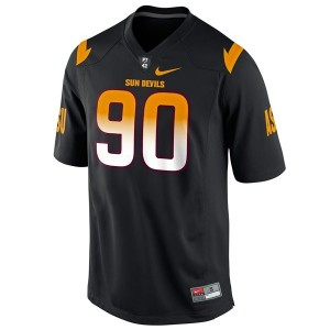 Arizona State Sun Devils (ASU) Will Sutton #90 Black Men Stitch Jersey Nike