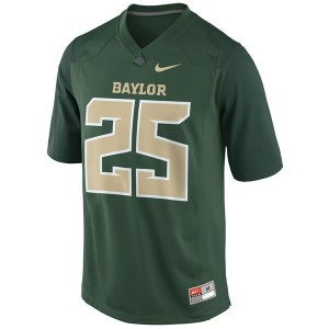 Baylor Bears Lache Seastrunk #25 Green Men Stitch Jersey Nike
