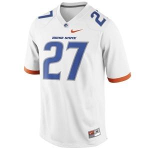 Men Boise State Broncos #27 Jay Ajayi White Nike Stitch Jersey