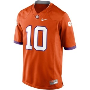 Clemson Tigers Tajh Boyd #10 Orange Men Stitch Jersey Nike