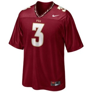 Nike Florida State Seminoles (FSU) #3 EJ Manuel Men Stitch Jersey - Red