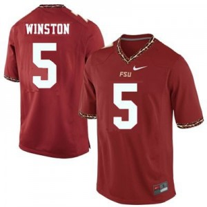 Nike Florida State Seminoles (FSU) #5 Jameis Winston Men Stitch Jersey - Red
