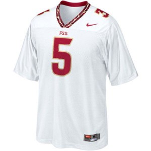 Men Florida State Seminoles (FSU) #5 Jameis Winston White Nike Stitch Jersey
