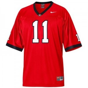Nike Georgia Bulldogs #11 Aaron Murray Men Stitch Jersey - Red