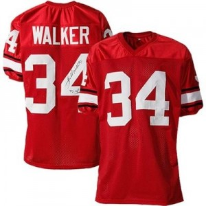 Nike Georgia Bulldogs #34 Herchel Walker Men Stitch Jersey - Red