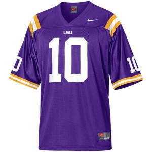 Nike LSU Tigers #10 Joseph Addai Men Stitch Jersey - Purple
