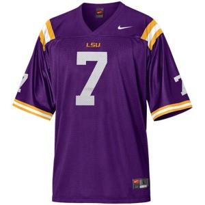 Nike LSU Tigers #7 Patrick Peterson Men Stitch Jersey - Purple