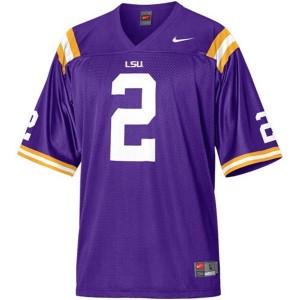 Nike LSU Tigers #2 Rueben Randle Men Stitch Jersey - Purple