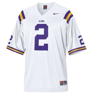 Men LSU Tigers #2 Rueben Randle White Nike Stitch Jersey