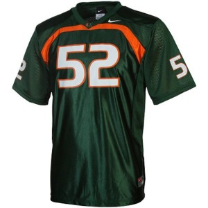 Miami Hurricanes Ray Lewis #52 Green Men Stitch Jersey Nike