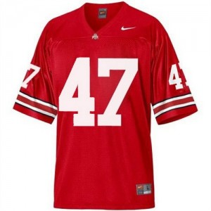 Nike Ohio State Buckeyes #47 A.J. Hawk Men Stitch Jersey - Red