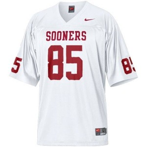 Youth(Kids) Oklahoma Sooners #85 Ryan Broyles White Nike Jersey