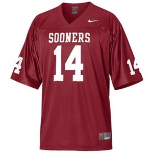 Nike Oklahoma Sooners #14 Sam Bradford Men Stitch Jersey - Red