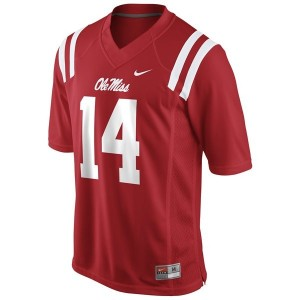 Nike Ole Miss Rebels #14 Bo Wallace Men Stitch Jersey - Red