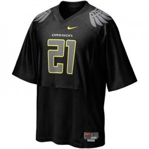 Oregon Ducks LaMichael James #21 Black Men Stitch Jersey Nike