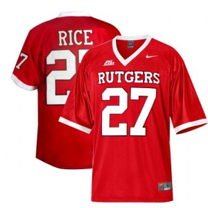 Nike Rutgers Scarlet Knights #27 Ray Rice Men Stitch Jersey - Red