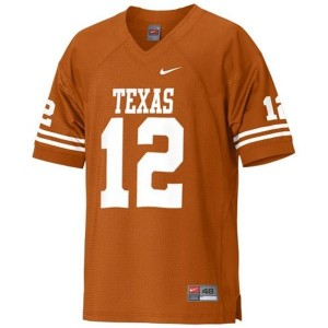 Texas Longhorns Colt McCoy #12 Orange Men Stitch Jersey Nike