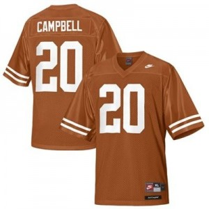 Texas Longhorns Earl Campbell #20 Orange Men Stitch Jersey Nike