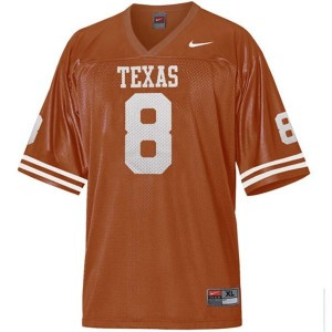 Texas Longhorns Jordan Shipley #8 Orange Men Stitch Jersey Nike