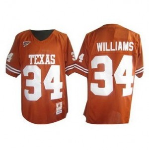 Texas Longhorns Ricky Williams #34 Orange Men Stitch Jersey Nike