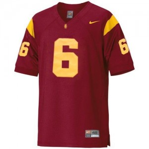 Nike USC Trojans #6 Mark Sanchez Men Stitch Jersey - Red
