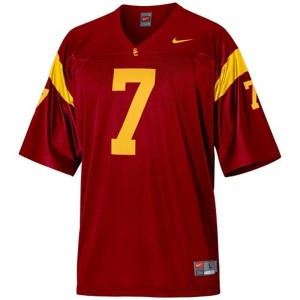 Nike USC Trojans #7 Matt Barkley Men Stitch Jersey - Red