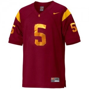 Nike USC Trojans #5 Reggie Bush Men Stitch Jersey - Red