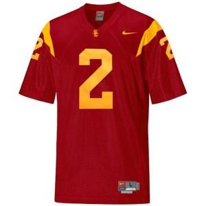 Nike USC Trojans #2 Robert Woods Men Stitch Jersey - Red