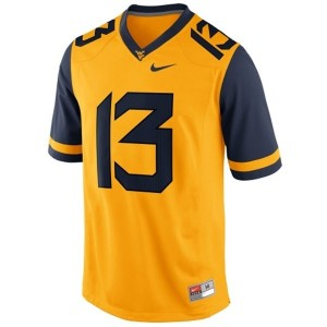 West Virginia Mountaineers Andrew Buie #13 Gold Men Stitch Jersey Nike