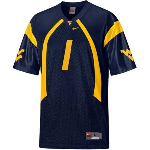 West Virginia Mountaineers Tavon Austin #1 Blue Men Stitch Jersey Nike