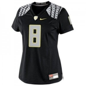 Oregon Ducks Marcus Mariota #8 Black Womens Jersey Nike