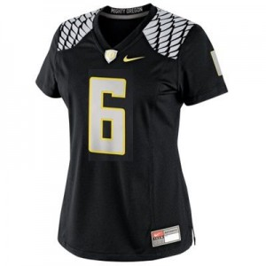 Oregon Ducks Number De'Anthony Thomas #6 Black Womens Jersey Nike