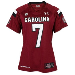 Under Armour South Carolina Gamecocks #7 Jadeveon Clowney Womens Jersey - Red