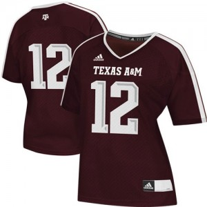 Texas A&M Aggies 12th Man Maroon Womens Jersey Adidas