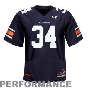 Auburn Tigers Bo Jackson #34 Blue Men Stitch Jersey Under Armour