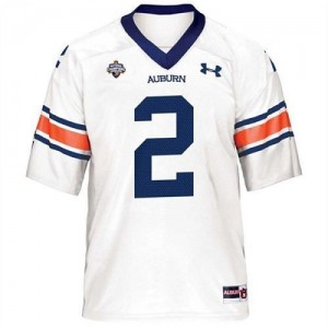Youth(Kids) Auburn Tigers #2 Cameron Newton White Under Armour Jersey