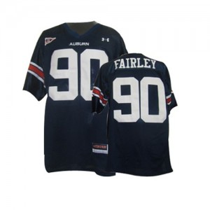 Auburn Tigers Nick Fairley #90 Blue Men Stitch Jersey Under Armour