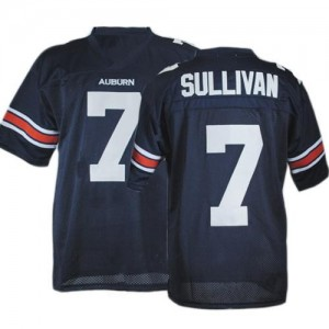 Auburn Tigers Pat Sullivan #7 Blue Men Stitch Jersey Under Armour