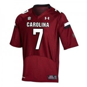 Under Armour South Carolina Gamecocks #7 Jadeveon Clowney Men Stitch Jersey - Red