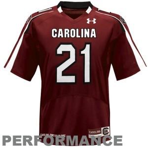 Under Armour South Carolina Gamecocks #21 Marcus Lattimore Men Stitch Jersey - Red