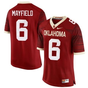 Baker Mayfield #6 Oklahoma Sooners Nike Mens & Youth Football Jersey - Crimson