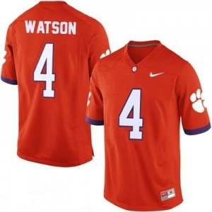 Nike Clemson Tigers #4 Deshaun Watson Men and Youth Stitch Jersey - Orange