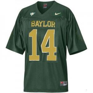Baylor Bears Bryce Petty #14 Green Men Stitch Jersey Nike