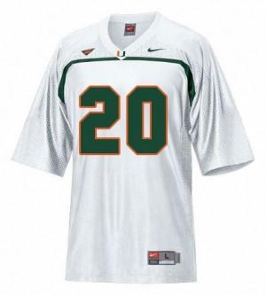 Youth(Kids) Miami Hurricanes #20 Ed Reed White Nike Jersey