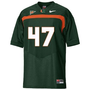 Miami Hurricanes Michael Irvin #47 Green Men Stitch Jersey Nike